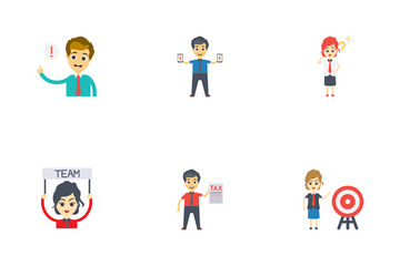 Business Characters Icon Pack