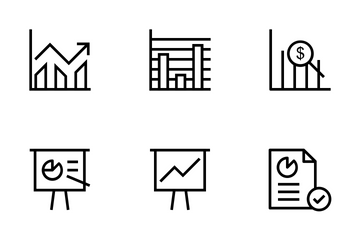 Business Charts Line Icons Icon Pack