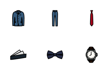 Business Clothes Icon Pack