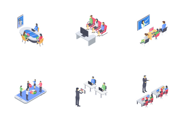 Business Coaching Set Icon Pack