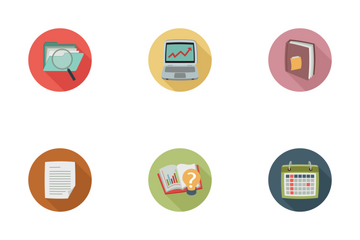 Business Colored Flat Icons Icon Pack