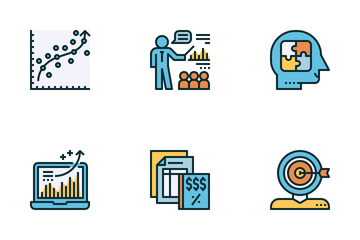 Business Consultant Color Icon Pack