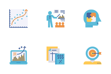 Business Consultant Flat Icon Pack