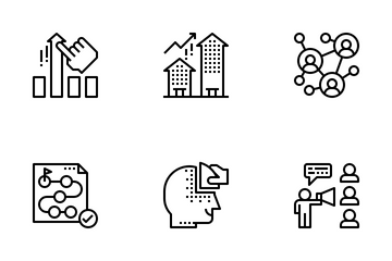 Business Consultant Outline Icon Pack