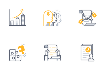 Business Contract Icon Pack