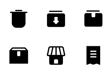 Business & E-commerce Glyph Icon Pack