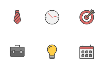 Business Filled Line Icon Pack