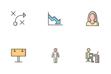 Business Filled Outline Icon Pack