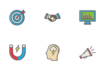 Business Filled Outline Icons Icon Pack