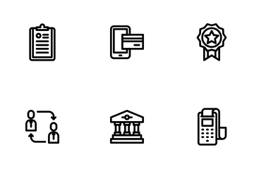 Business Finance LineArt Icon Pack