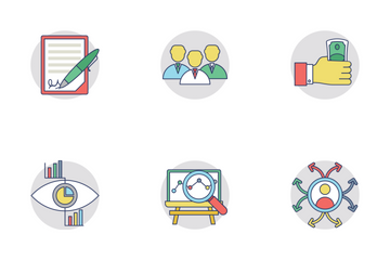 Business Flat Rounder Icons 1 Icon Pack