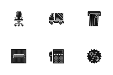Business Glyph - 3 Part-4 Icon Pack