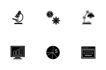 Business Glyph - 3 Part-5 Icon Pack