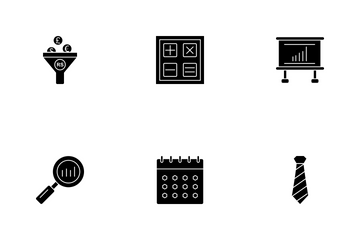 Business Glyph - 3 Part-6 Icon Pack