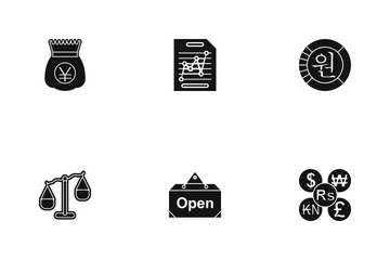 Business Glyph - 3 Part-7 Icon Pack