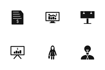 Business Glyph Icon Pack