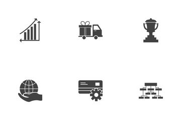Business Glyph Black Icon Pack