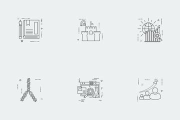 Business Illustration Line Vol 1 Icon Pack