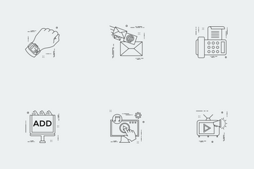 Business Illustration Line Vol 10 Icon Pack
