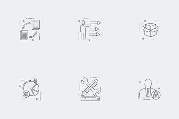 Business Illustration Line Vol 2 Icon Pack