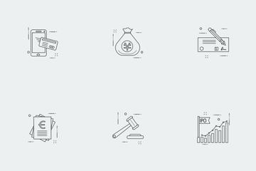 Business Illustration Line Vol 4 Icon Pack