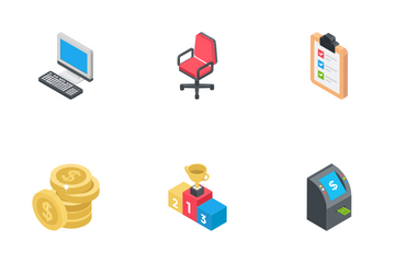Business Isometric Icons 1 Icon Pack