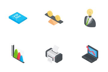 Business Isometric Icons 2 Icon Pack