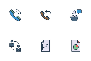Business Line Color Icons Icon Pack