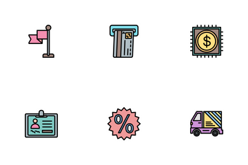Business Line Filled - 2 Part-4 Icon Pack
