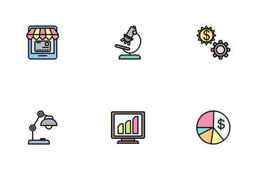 Business Line Filled - 2 Part-5 Icon Pack