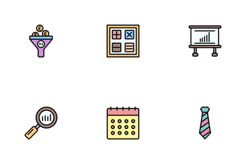 Business Line Filled - 2 Part-6 Icon Pack