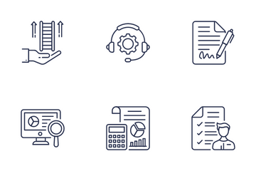 Business Management Process Icon Pack