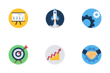 Business Marketing And Management Icon Pack