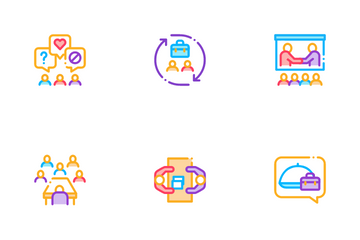 Business Meeting Conference Icon Pack
