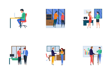 Business Meetings Icon Pack