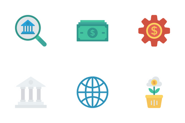 Business & Office Flat Icons Icon Pack