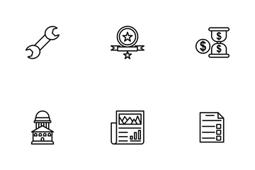 Business Part-2 Line-1 Icon Pack