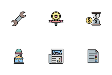 Business Part-2 Line Filled-2 Icon Pack