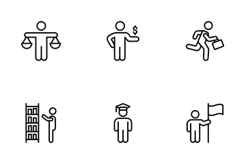 Business People At Work Icon Pack