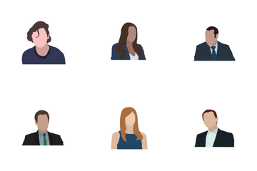 Business Persons Flat Icon Pack