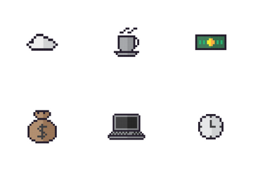 Business Pixel Icon Pack