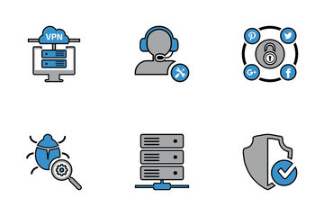 Business Security Line Icon Pack