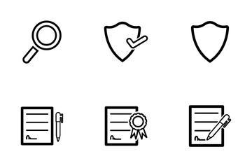 Business Security Outline Icon Pack