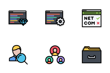 Business & Seo Colored Icon Pack