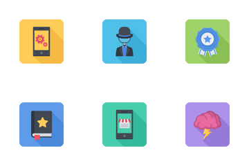 Business & SEO Flat Rounded Icon Pack