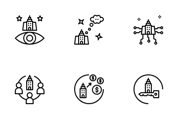 Business Strategy Concept Icon Pack
