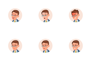 Businessman Avatar Icon Pack