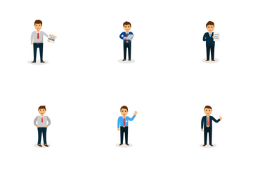 Businessman Mascots Icon Pack