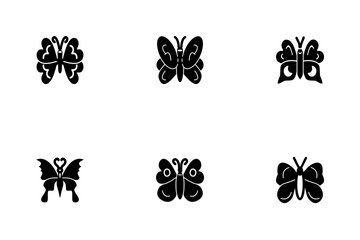 Butterfly Glyph P1s2 Icon Pack