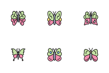 Butterfly Line Filled P1s2 Icon Pack